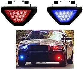 A2D Flashers Police Light Triangular 12 LED Light RED & Blue-Skoda Fabia