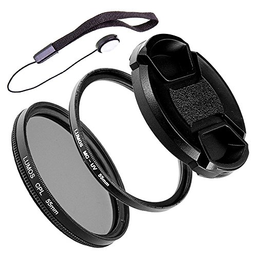 55mm Kamera Filter-Set MC UV Filter & Polfilter & Objektivdeckel LUMOS CREATIVE TOOLs Kamera Objektiv Zubehör 55 mm