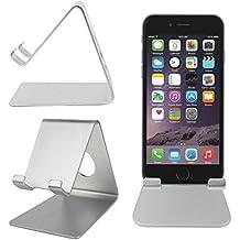 """Supporto Stand / Leggio Alluminio Per Apple iPhone 7 / 7 Plus / 6 Di 4.7""""/ 6 Plus 5.5"""" - Pratico, Cómodo E Leggero! - Ideale Per La Casa E Per L'ufficio - DURAGADGET"""