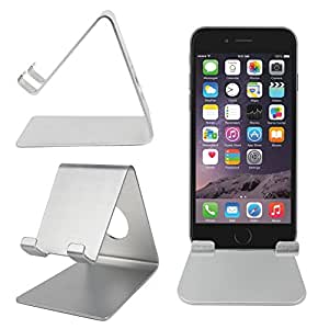 duragadget support bureau en m tal gris pour smartphone. Black Bedroom Furniture Sets. Home Design Ideas