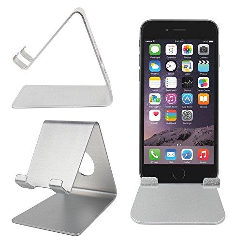 """DURAGADGET Soporte Stand / Atril De Aluminio Para Apple iPhone 6s Plus / 6s / 6 De 4.7""""/ 6 Plus 5.5"""" - ¡Práctico, Cómodo Y Ligero! - Ideal Para Oficina O Casa"""