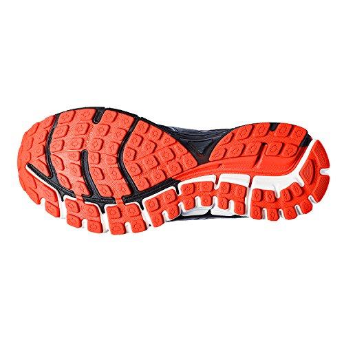 Brooks Adrenaline GTS 17, Scarpe da Ginnastica Uomo Black/Anthracite/Red Orange