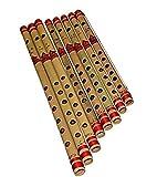 #4: SG Musical - 8 Pc Bansuri Set, Bamboo Indian Flutes in Box