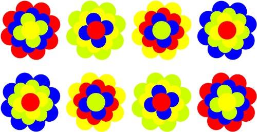 Pegatinas Pril Flores Pril Juego 302095Flores 8x 8cm