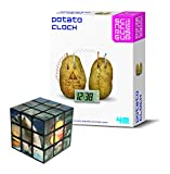 JJ\'s Gift Shop DIY Educational Green Science Kit Potato Clock - Comes with a Fun Sealife Magic Cube Puzzle