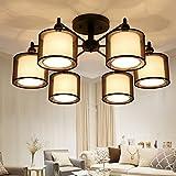 Neue chinesische Deckenleuchte Moderne LED Wohnzimmer Beleuchtung Schmiedeeisen Stoff warme romantische Schlafzimmer Lampe Studie Lampe (Size : 30cm*70cm)