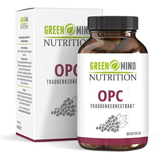 Premium OPC Traubenkernextrakt - 600 mg Traubenkernextrakt = 240 mg reines OPC - nur eine Kapsel pro Tagesdosis - vegan - 3 Monate Vorrat vom deutschen Hersteller Green Mind Nutrition