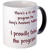 CafePress–12Schritt Greys Anatomie Programm–Tasse, Black Color Changing, S