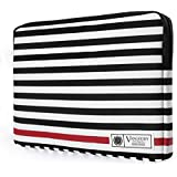 VanGoddy Luxe Sleeve Stylish Case Cover Bag For Apple MacBook Air/Pro / Retina 13 Inch/iPad Pro (Stripes With Red)