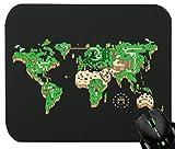 Touchlines Merchandise TLM Mario Weltkarte Mauspad für Gaming und Grafikdesign 230x190x5mm