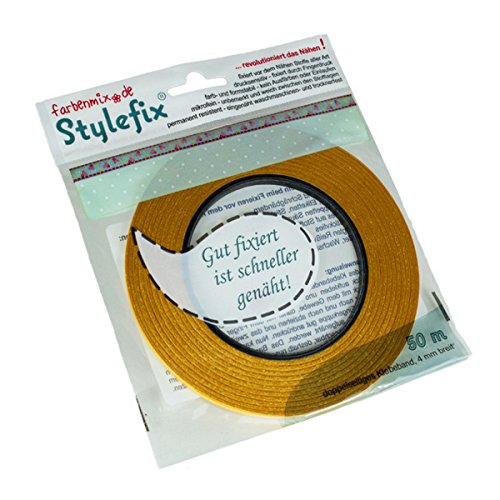 Farbenmix Stylefix doppelseitiges Textilklebeband, 50 m x 4 mm (- Reißverschluss-band)