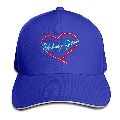 Hittings Britney Spears Sandwich Peaked Hat/Cap RoyalBlue -