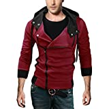 SODIAL(R) NEUF Top Mode Hommes Mince concu Cardigan a Capuche ...