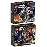 Lego Star Wars 2er Set 75193 75194 Millennium Falcon Microfighter + First Order TIE Fighter Microfighter