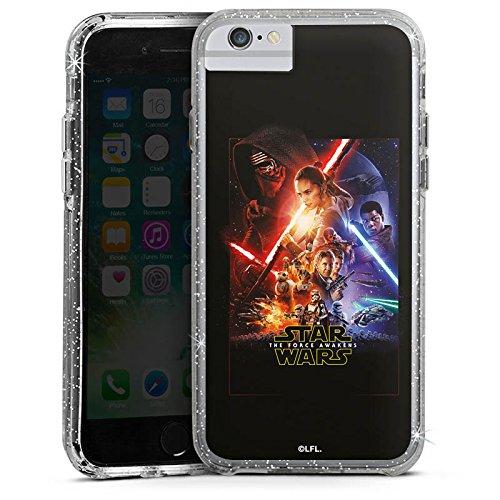 Apple iPhone X Bumper Hülle Bumper Case Glitzer Hülle Star Wars Das Erwachen Der Macht Merchandising Pour Supporters Bumper Case Glitzer silber