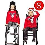 iBaste Weihnachtspullover für Mama Papa Baby Weihnachtspullover Familie Set Sweatshirt mit Elch Langarmshirts Pulli