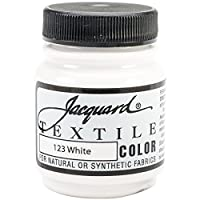 Jacquard Products White-Textile Color Paint, Acrylic, Multicolour, 4.44x4.44x6.35 cm