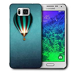 Snoogg Parachute Balloons Printed Protective Phone Back Case Cover for Samsung Galaxy Samsung Galaxy Alpha