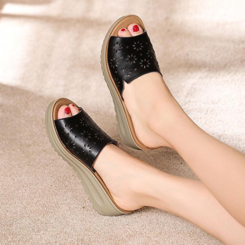 AWXJX Tongs Tongs AWXJX Femme Chaussures été Noeud papillon pincée usure extérieure fond épais anti-dérapant pente bord de...B07CVJ4M5VParent 04db17