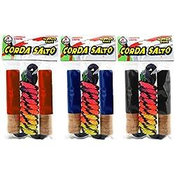 Globo Toys Globo 34951 - Cuerda para Saltar (200 cm, 230 Colores, 3 Unidades)