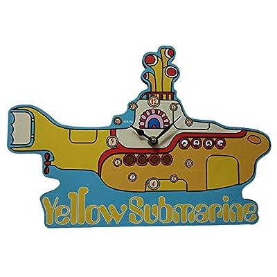 Puckator CKP87 Yellow Submarine Clock 2.5 x 35 x 35 cm