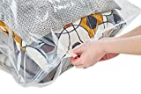 Home-Bliz Vacuum Storage Bags (6pack 100 x 80CM) Premium Reusable Space Saver Compression Sealer Bags* Jumbo Extra Large XL size for clothing bedding blankets!+ FREE Hand-Pump for Travel