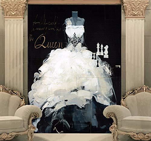 Fototapeten Benutzerdefinierte 3D Wallpaper Hochzeitskleid Wandbild Vintage Foto Wallpaper Flur...