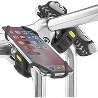 Support de téléphone de vélo pour n'importe quel Smartphone, Ultra léger, ne Fera pas ou Rouille, tige support de fixation pour téléphones avec des écrans 4–15,2cm, compatible avec Route ou VTT et moto ou scooter