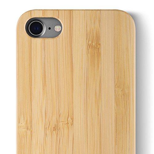 iCASEIT Holz Schutzhülle für Apple iPhone 8 Ultra Slim Echtem Holz Hülle Hart Back Cover Bumper Etui für Apple iPhone 8 and iPhone 7 (4.7 Zoll) Handyschale - FB0311 - Bamboo