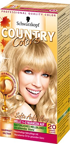 Country Colors Intensiv-Tönung, 20 Sahara Hellblond, 3er Pack (3 x 1 Stück)