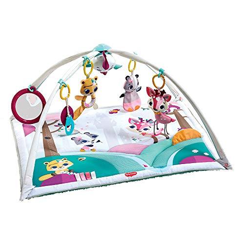 Tiny Love Deluxe Gymini Palestrina bambini, palestrina evolutiva neonato, Tappeto Gioco bambina con Archi Gioco e Sonagli multifunzione, collezione Tiny Princess Tales, rosa