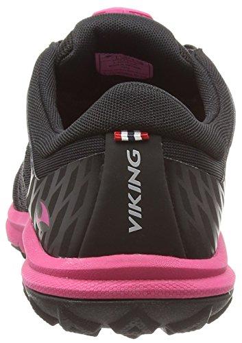 Viking - Apex Ii Gtx, Scarpe da Trail Running Donna Nero (Schwarz (Black/Dark Pink 239))