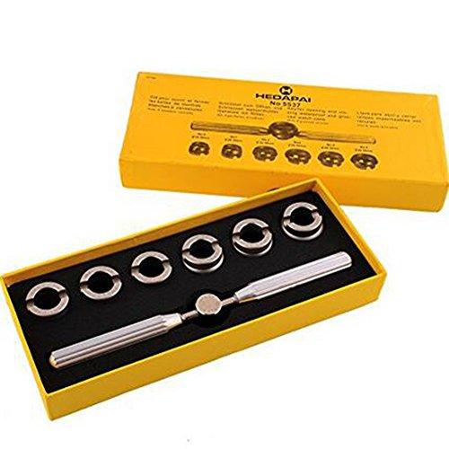 Owikar - Juego de 7 herramientas de reparación de relojes, abrebotellas de carcasa trasera 5537 para reloj Rolex Tudor