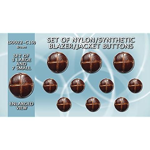 Confezione in materiale sintetico e Nylon Blazer bottoni in finta pelle, colore: nero (3 grandi (Nero Sport Coat Blazer)