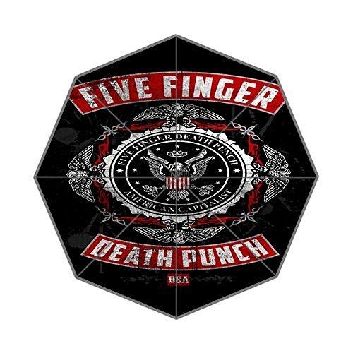 Five Finger Death Punch Custom Foldable Umbrella fashion design All Weather ombrello
