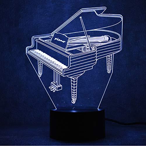 Nachtlichter 3D LED Für Kinder Touch Button USB Visuelle Klavier Schreibtischlampe Baby Schlaf Beleuchtung Wohnkultur Geschenke Musikinstrumente touch schalter