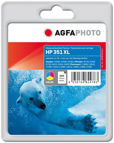 Preisvergleich Produktbild AgfaPhoto APHP351XLC Tinte für HP OJ5780,  21 ml,  farbig