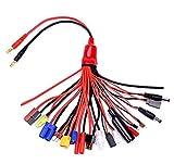 YUNIQUE Deutschland ® 19-in-1 Bananenstecker RC Lipo Ladegerät Adapter Kabel IMAX / B6 / B6AC / TRX / JST / FUTABA / für RC Cars Hubschrauber Quadcopters DJI