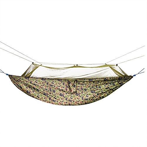 Skl Portable High Strength Parachute Material Hängematte Mit Moskito-netz Zum Aufhängen, Für Outdoorcamping Reisen
