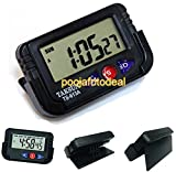 #4: SHOPEE TAKSUN 20377 Car Dashboard / Office Desk Alarm Clock and Stopwatch with Flexible Stand