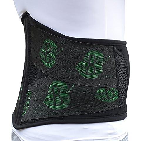 Spécial Moto, ceinture lombaire DELUXE. Protection du dos, soulage les douleurs. Ne glisse pas. ANTI-TRANSPIRANT, HYPOALLERGÉNIQUE. 4DflexiSPORT (XS (66-82 cm))