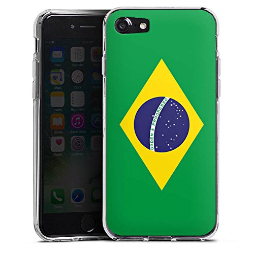 Apple iPhone X Silikon Hülle Case Schutzhülle Brasilien Flagge Fußball Silikon Case transparent