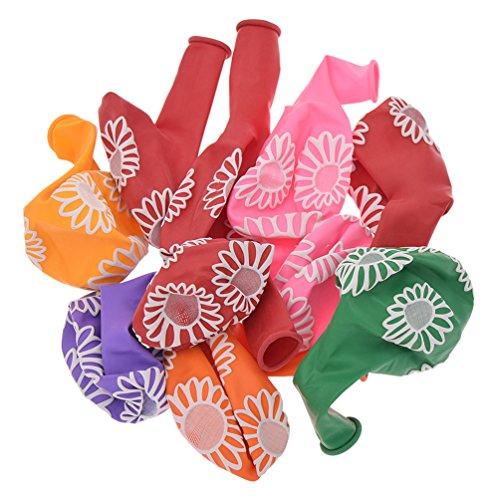 ons Luftballons Sonnenblumen Mehrfarbig für Hochzeit Party Dekor ()