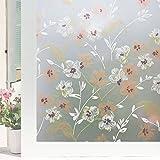 HYXL Glassato Pellicola finestre Adesiva finestra Autoadesive Finestra vetro adesivi Bagno porta opaca leggera decorazione film finestra carta-A 90x300cm(35x118inch)