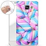 Finoo Samsung Galaxy A3 2016 Weiche flexible Silikon-Handy-Hülle | Transparente TPU Cover Schale mit Motiv | Tasche Case Etui mit Ultra Slim Rundum-schutz | Marshmallows
