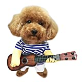 L-Peach Disfraz de Guitarrista Ropa Traje Uniforme para Mascotas Animal Doméstico Gato Perro con Dos...