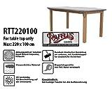 Raffles Covers RTT220100 Schutzhülle Nur für Tischplatten Schutzhülle für rechteckigen Gartentisch, Abdeckhaube für Gartentisch, Gartenmöbel Abdeckung