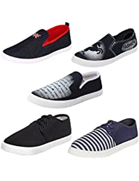 Super Men Combo Pack of 5 Casual Shoe Loafers & Moccasins