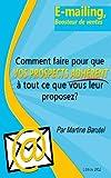 Telecharger Livres E mailing Boosteur de ventes (PDF,EPUB,MOBI) gratuits en Francaise