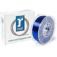 Real Filament 8719128327235 Real PETG, Spool of 1 kg, 1.75 mm, Transparent Blue - ukpricecomparsion.eu